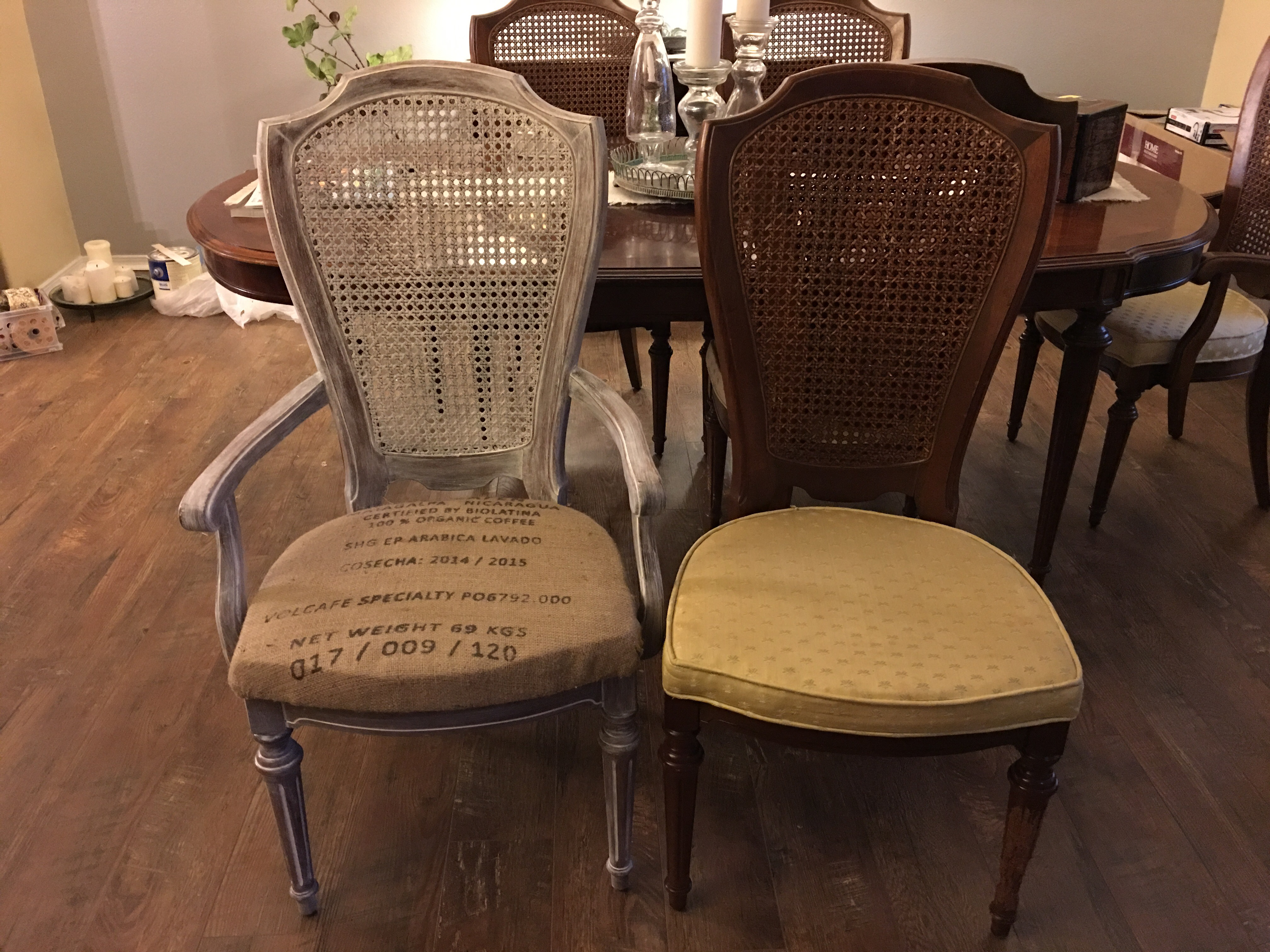 Refinishing/Redesigning a dining room table and chairs! – Carriage ...