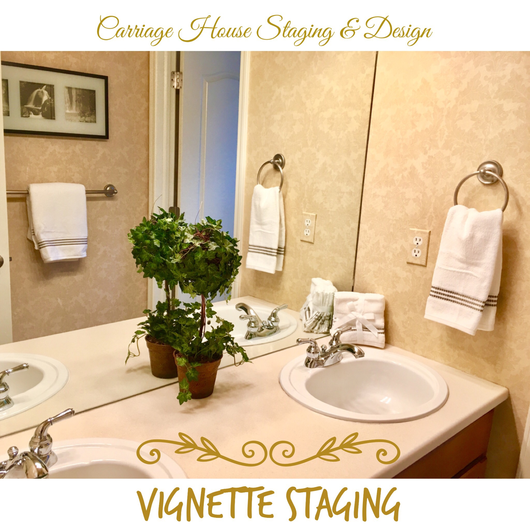 Vignette Staging of a Guest Bathroom – Carriage House Staging ...