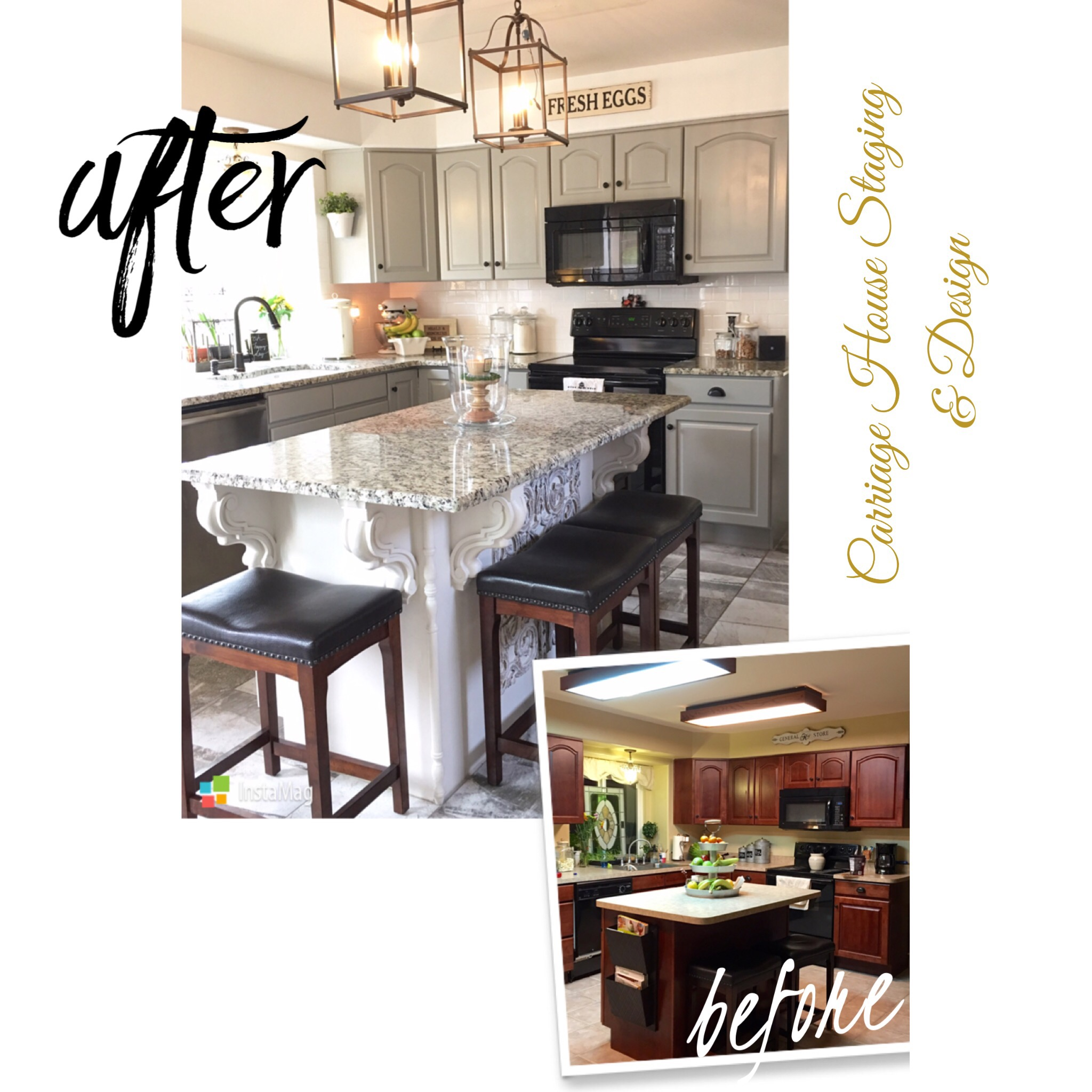 Kitchen Staging Before And After: Carriage House Staging & Design LLC