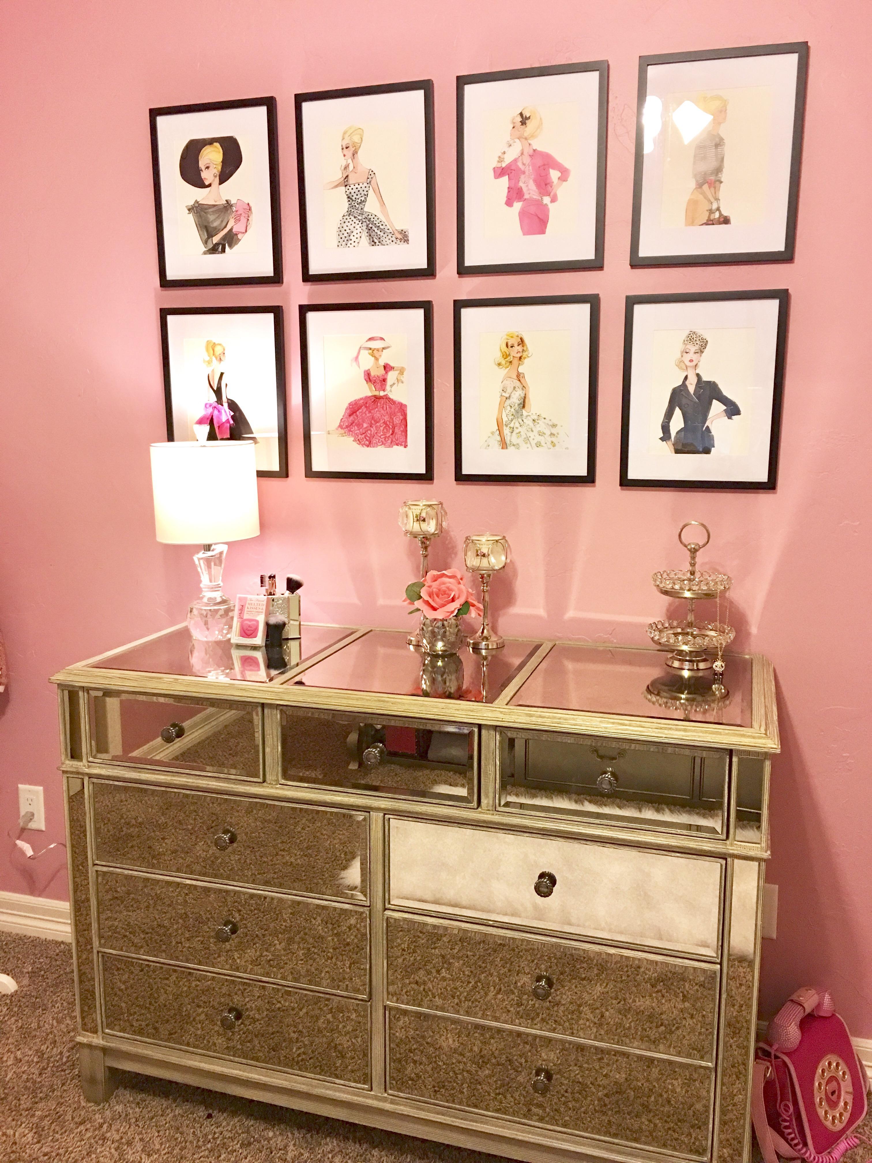 Update On The U201cGoing Glamu201d Bedroom Design