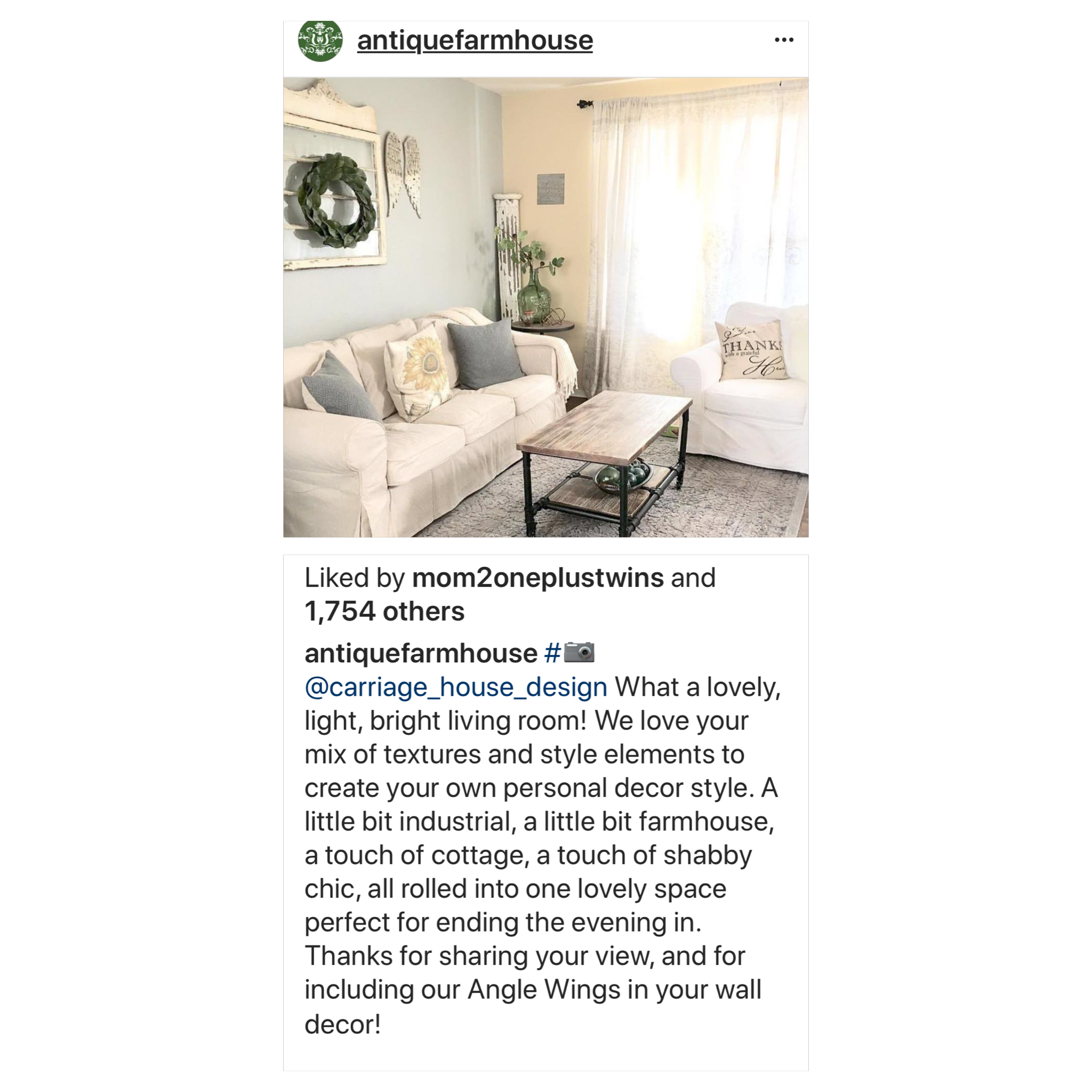 Carriage House Staging U0026 Design Featured On Antique Farmhouseu0027s IG Page
